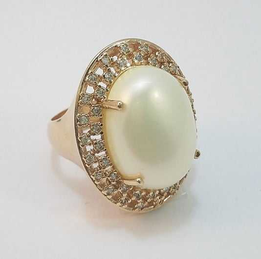 anel pérola shell oval 20x15 mm com zircônias white-1