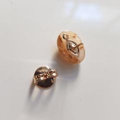 Conjunto Singular - pedra natural Jaspe Australiano - colar aro + brinco  - 2