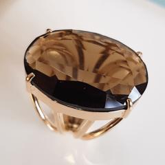 Anel cristal fumê oval 25x18mm - modelo 4 aros - numeração pequena - modelo Blenda