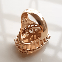 Anel cristal champanhe oval 25x18mm - Modelo Dama
