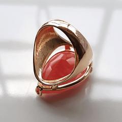 Anel cristal cherry formato gota 25x18mm - modelo Energy