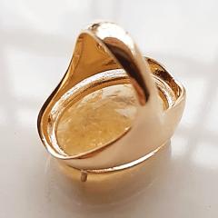 Anel cristal rutilo oval 25x18mm - Modelo  Desiree