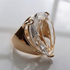 Anel cristal white formato gota 25x18mm - modelo Energy