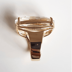 anel cristal white 20x15mm - modelo Presence