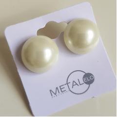 Brinco pérola shell 16mm