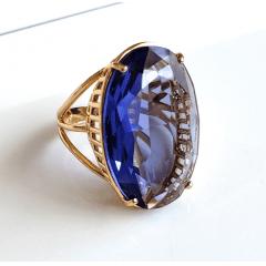Anel cristal light ametista oval 30x20mm - modelo Brigite