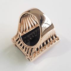 Anel cristal preto ônix 25x20mm - Modelo Andy