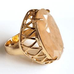 Anel cristal rutilado oval  28x17mm - modelo Iolanda