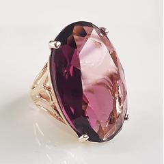 1-Anel cristal uva oval 30x20mm - modelo Greta