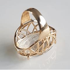 Anel cristal white oval - 27x19mm  - modelo Antonina