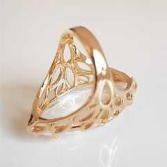Anel Ully cristal white - formato navete