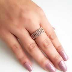 anel zircônias white 6
