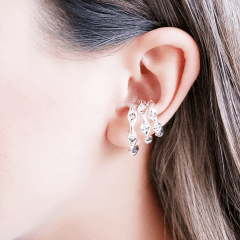 Piercing fake da Juliette - triplo  prateado