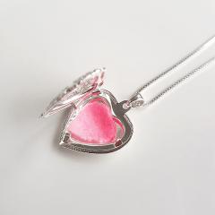 1-Colar difusor e aromatizador - formato coração - prateado
