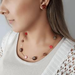 Colar de  pedras naturais - modelo Ateliê