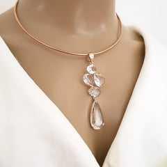 1-pingente Premium de cristais white - 2