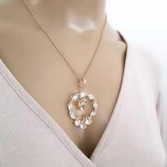 Pingente  Premium de cristais white