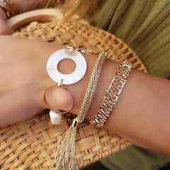 pulseira corrente grossa com franja