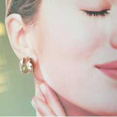 Conjunto anel + brinco de cristal rosa morganita