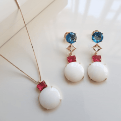 Conjunto colar e brinco - Modelo Malabaris 3