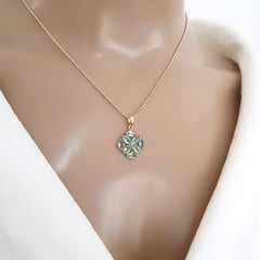 1-Conjunto Daily Bella - colar e brinco de cristais azul aquamarine