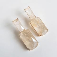 2-Conjunto retangular cristal rutilado