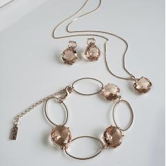 _________sugestão de conjunto ________  Conjunto de pulseira+brinco+colar de cristal